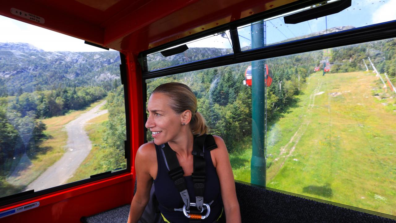 Gondola SkyRide at Stowe Mountain Resort in Vermont