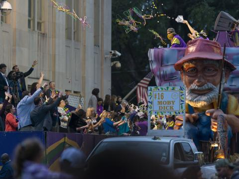 Moby Dick prevails at Mardi Gras