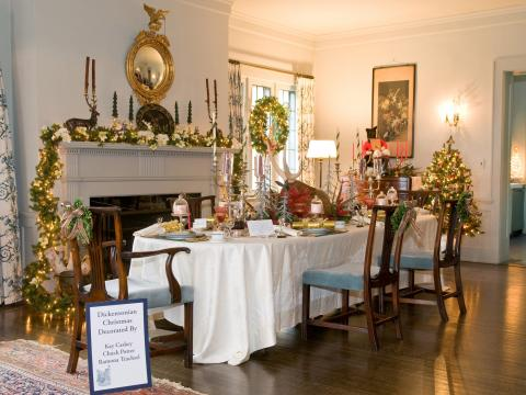 Part of the festive display at Mayowood Mansion for the holidays