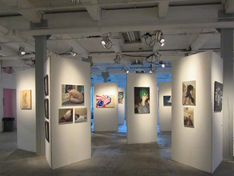 Art on display during the Jersey City Art & Studio Tour