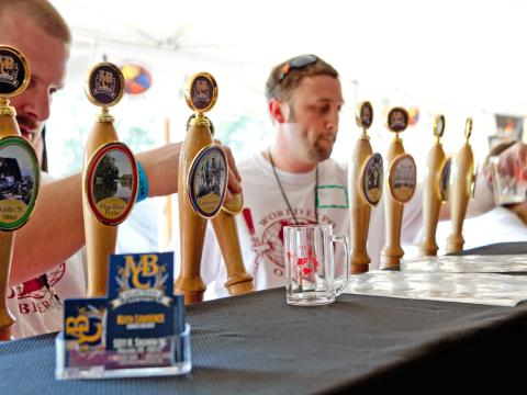 Sampling the diverse taps at the World Expo of Beer