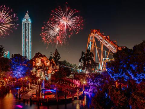 Knott's Berry Farm's 4th of July fireworks
