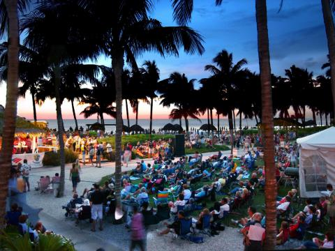 Enjoying a waterfront Jazz performance in Naples, Florida as part of the SummerJazz on the Gulf series