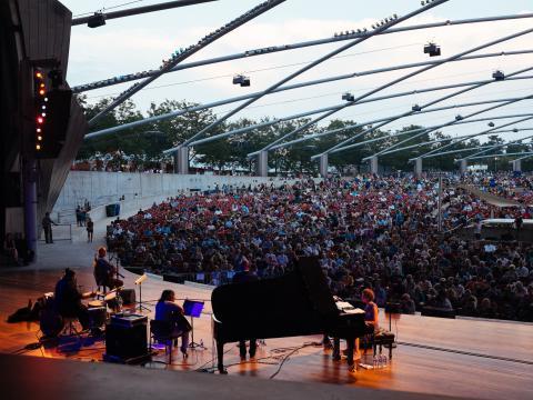 Chicago Jazz Festival performance at Jay Pritzker Pavilion in Millennium Park