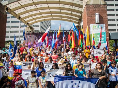 Celebrating Hispanic culture during HoLa Festival in Knoxville, Tennessee