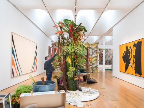 Creating an exhibit for Art in Bloom in Raleigh, North Carolina