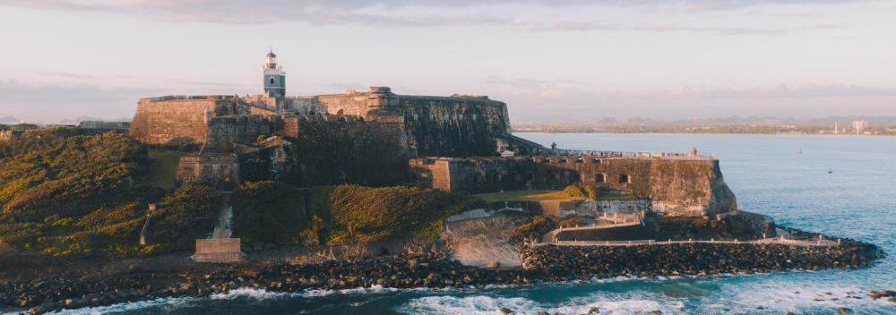 Castillo de San Felipe del Morr on the coast of San Juan, Puerto Rico