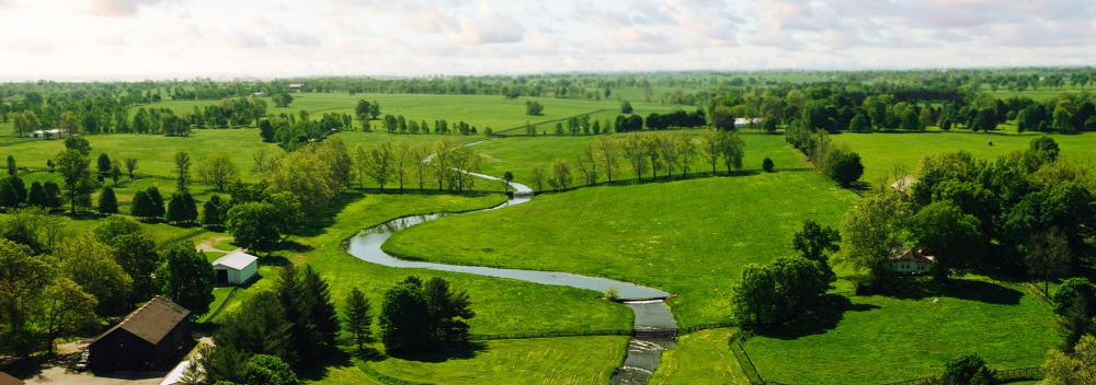 Rolling hills and creeks in Kentucky